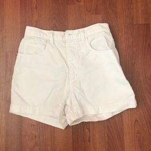 high waisted guess shorts